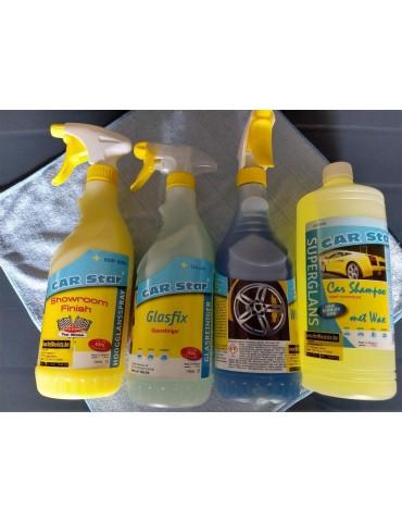 Car Star Showroom Finish - glasfix-glasreiniger- velgenreiniger-shampoo wax