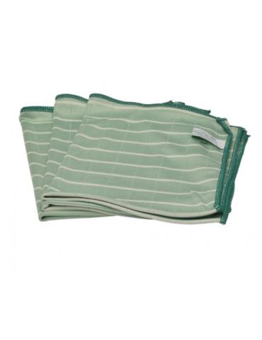 Serviette sèche en bambou - 40 x 50 cm - 3 pièces - Vert